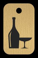 Klíčenka s obrázkem vina