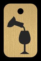 Klíčenka s obrázkem vína