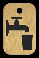 Klíčenka - kohoutek se sklenicí