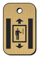 Klíčenka s obrázkem výtahu