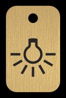 Klíčenka s obrázkem žárovky