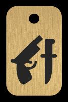 Klíčenka s obrázkem zbraní