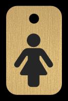 Klíčenka s obrázkem ženy