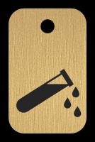 Klíčenka s obrázkem zkumavky