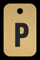 Klíčenka s písmenem P