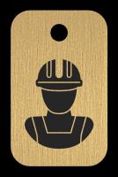 Klíčenka s obrázkem dělníka