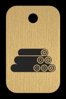 Klíčenka s obrázkem dřeva
