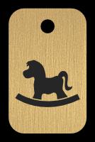 Klíčenka s obrázkem houpacího koně