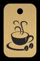 Klíčenka s obrázkem kávy