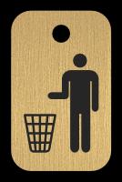 Klíčenka s obrázkem koše