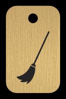Klíčenka s obrázkem koštěte
