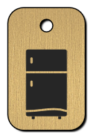 Klíčenka s obrázkem lednice