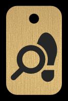 Klíčenka s obrázkem lupy