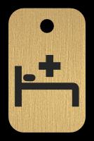 Klíčenka s obrázkem lůžka