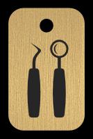 Klíčenka s obrázkem dentálníh nástrojů