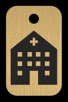 Klíčenka s obrázkem nemocnice