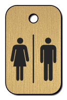 Klíčenka s obrázkem pána a paní