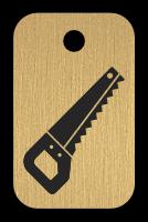 Klíčenka s obrázkem pily
