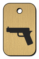 Klíčenka s obrázkem pistole