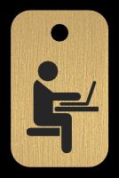 Klíčenka s obrázkem učebny