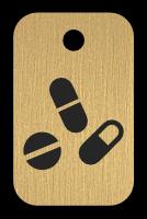 Klíčenka s obrázkem léků