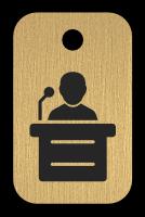 Klíčenka s obrázkem řečníka