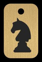 Klíčenka s obrázkem šachového koně