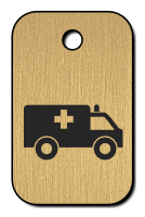 Klíčenka s obrázkem sanitky