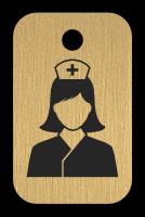 Klíčenka s obrázkem zdravotní sestry