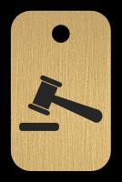 Klíčenka s obrázkem soudcovského kladívka