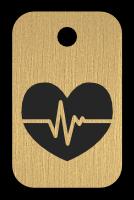 Klíčenka s obrázkem srdce
