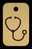 Klíčenka s obrázkem stetoskopu