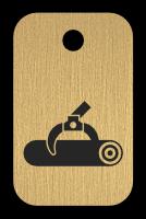 Klíčenka s obrázkem stroje