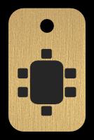 Klíčenka s obrázkem stolu