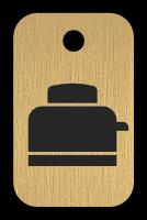 Klíčenka s obrázkem topinkovače