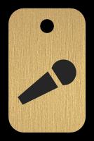 Klíčenka s obrázkem mikrofónu