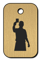 Klíčenka s obrázkem rozhodčího