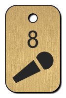 Klíčenka - mikrofón