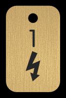 Klíčenka s obrázkem blesku