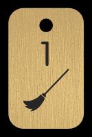 Klíčenka - koštěte