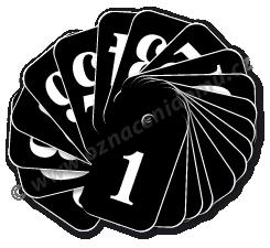 ŘADY klíčenek s čísly. Rozměr 25 x 40 mm