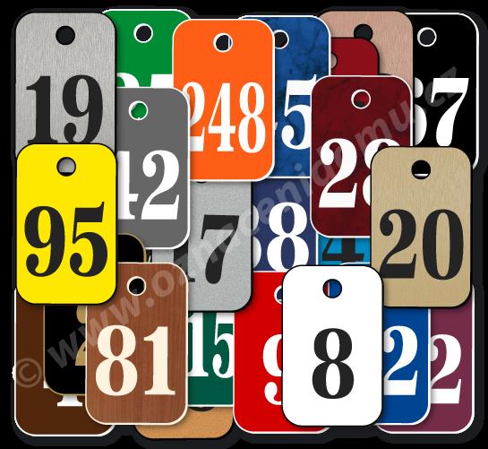 Klíčenka s číslem. Rozměr 25 x 40 mm