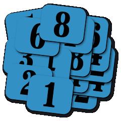 SADY štítků s čísly.