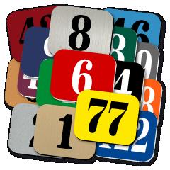 Štítek s číslem