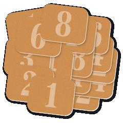 ŘADY štítků s čísly 30 x 25 mm