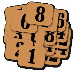 Štítky samolepicí - ČÍSELNÉ ŘADY. Rozměr 30 x 25 mm, tl. 0,2 mm