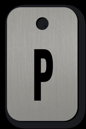 Klíčenka s volitelným textem, 25 x 40 mm, tl. 1,6 mm