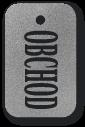 Přívěšek s textem obchod