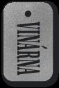 Přívěšek s textem vinárna